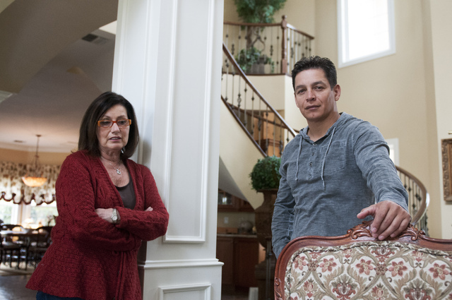 Walter Trujillo, a Venezuelan national and legal United States resident, and his partner Christina Cesaretti, talk about his legal immigration case at their home in Las Vegas, Nev., Thursday, Oct. ...