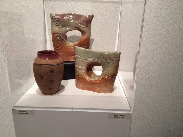 Nevada Clay Guild creations are seen on display July 15 at Summerlin Library. Jan Hogan/View