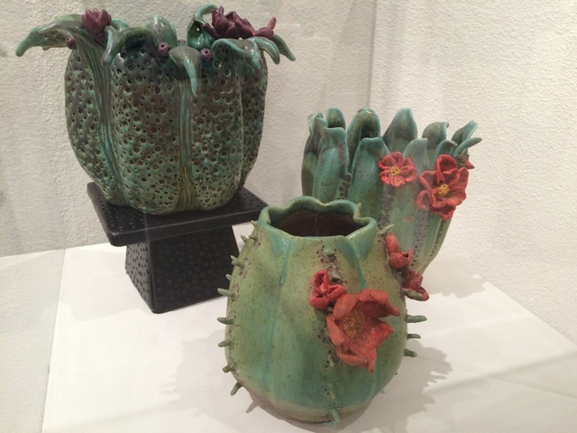 Nevada Clay Guild creations are seen on display July 15 at the Summerlin Library, 1771 Inner Circle Drive. The guild was founded in 1990 and includes professionals as well as hobbyists. Jan Hogan/View