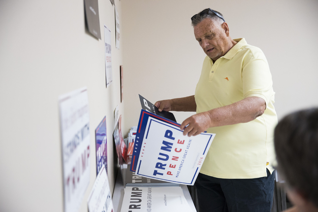 Bob Smith attends the grand opening for the new campaign office for Republican presidential candidate Donald Trump in Las Vegas on Saturday, Aug. 27, 2016, in Las Vegas. (Erik Verduzco/Las Vegas R ...