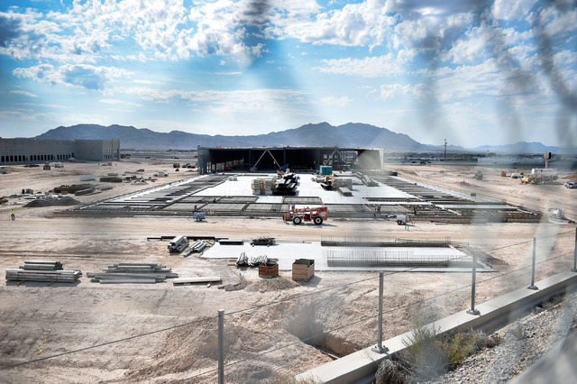 The Northgate Distribution Center is seen under construction along North Lamb Boulevard near Interstate 15 on Thursday, Aug. 18, 2016, in North Las Vegas. Fanatics, an online retailer, is slated t ...