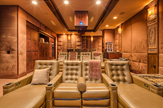 The home has a plush movie theater. (Courtesy)