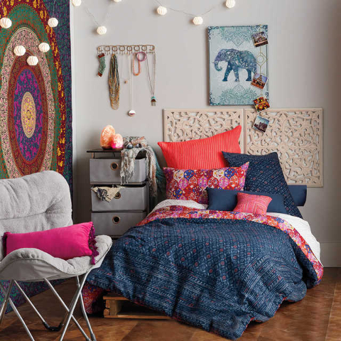 COURTESY BED BATH & BEYOND After a long day of classes and studying, a student can retreat back to her hippie chic sanctuary from Bed Bath & Beyond's Anthology collection. With denim hues, ...
