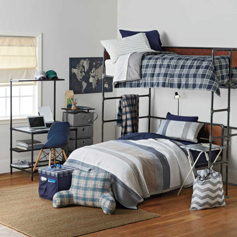 COURTESY BED BATH & BEYOND This cool and casual space is perfect for studying, relaxing, and entertaining with classic bedding and urbane accessories from the Nautica Eddington collection from ...