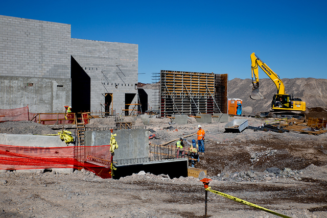 Construction is ongoing at Ascaya's $25 million, 20,000-square-foot clubhouse.  (Tonya Hardy/Real Estate Millions)