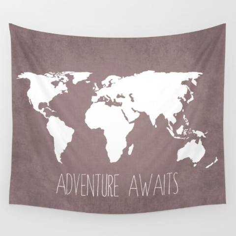 COURTESY SOCIETY6 A student can personalize his or her dorm room by stringing up a wall tapestry from Society6.