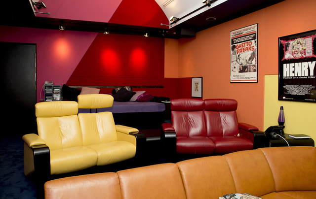 """""""The Slammer"""" is Penn Jillette's former home. This is the theater. The property is in the process of being sold to a developer. (Tonya Harvey/Real Estate Millions)"""