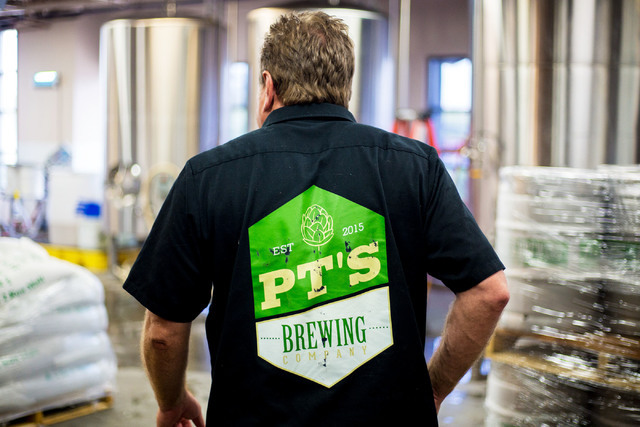 Brewmaster Dave Otto gives a tour of PT's Brewing Company off of Tenaya Way and Cheyenne Avenue in Las Vegas on Thursday, Aug. 4, 2016. Elizabeth Brumley/Las Vegas Review-Journal Follow @Elipage ...