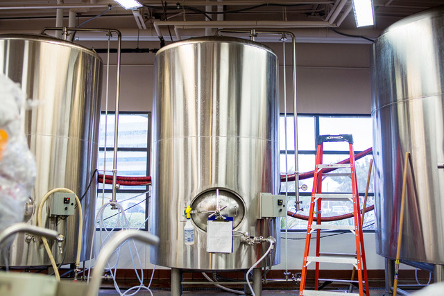 Tanks are shown in the brewery at at PT's Brewing Company off of Tenaya Way and Cheyenne Avenue in Las Vegas on Thursday, Aug. 4, 2016. Elizabeth Brumley/Las Vegas Review-Journal Follow @Elipage ...