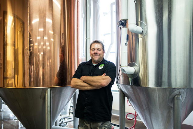 Brewmaster Dave Otto poses for a portrait at PT's Brewing Company off of Tenaya Way and Cheyenne Avenue in Las Vegas on Thursday, Aug. 4, 2016. Elizabeth Brumley/Las Vegas Review-Journal Follow  ...
