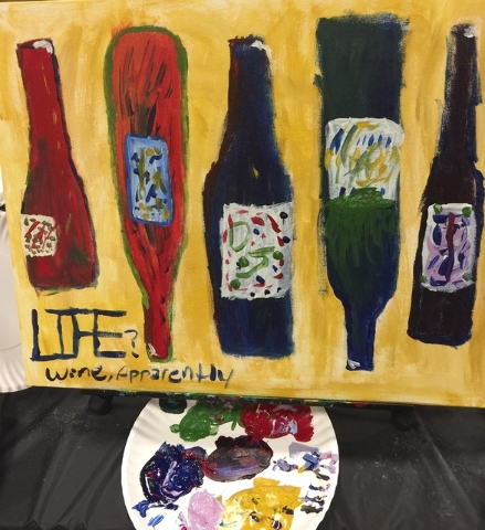 """View copy editor Danny Webster on his Pinot's Palatte class creation: """"These fermented, 2-D bottles of grape vino were beginning to look like oblong skateboards that would be considered hazardous  ..."""