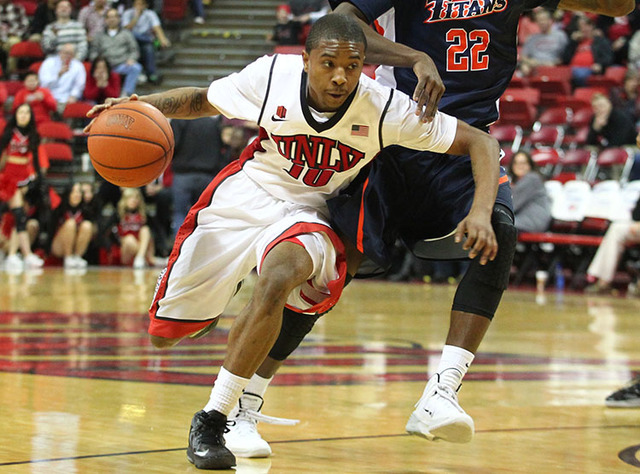 UNLV's Daquan Cook, seen in 2013. (Chase Stevens/Las Vegas Review-Journal)