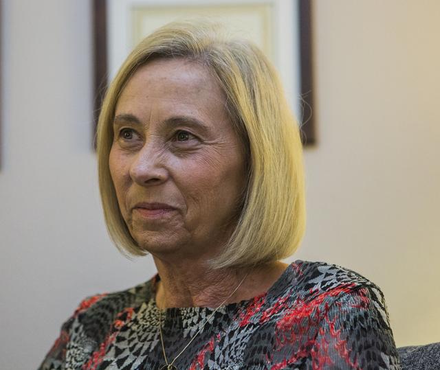 Julie Proctor, executive director of Safe House in Henderson, sits in her office on Wednesday, Aug. 10, 2016. Jeff Scheid/Las Vegas Review-Journal Follow @jeffscheid