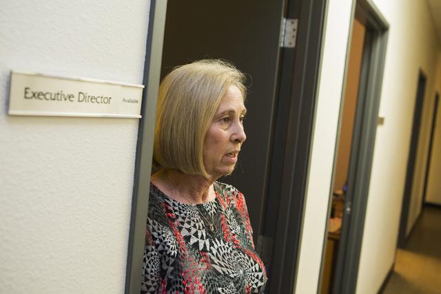 Julie Proctor, executive director of Safe House in Henderson, stands at the doorway of her office on Wednesday, Aug. 10, 2016. Jeff Scheid/Las Vegas Review-Journal Follow @jeffscheid