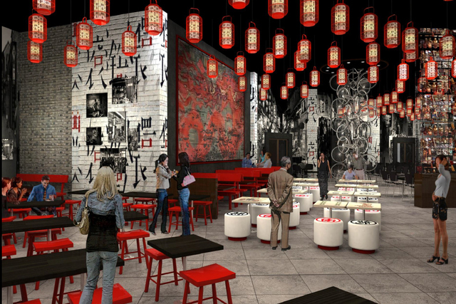 A rendering of Dragon Alley at Lucky Dragon Hotel & Casino. (Courtesy Lucky Dragon)