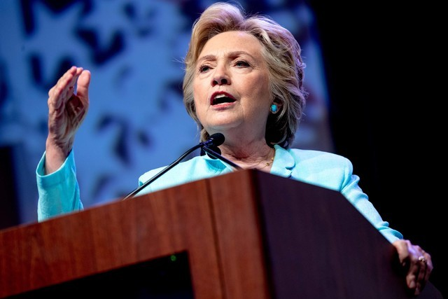 Democratic presidential candidate Hillary Clinton speaks at the 2016 National Association of Black Journalists' and National Association of Hispanic Journalists' Hall of Fame Luncheon at Marriott  ...