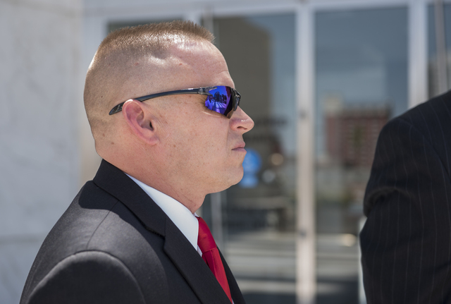 James Lescinsky is seen outside the Lloyd George U.S. Courthouse in Las Vegas on Monday, Aug. 8, 2016. (Martin S. Fuentes/Las Vegas Review-Journal)
