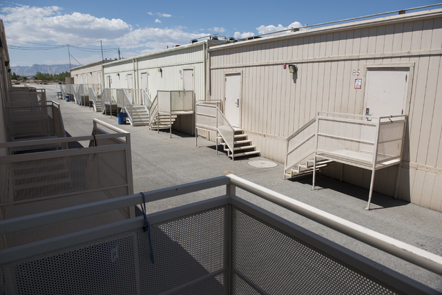 The exterior of William V. Wright Elementary School's portable classrooms are seen during the first day of school in Las Vegas on Monday, Aug. 29, 2016. Martin S. Fuentes/Las Vegas Review-Journal