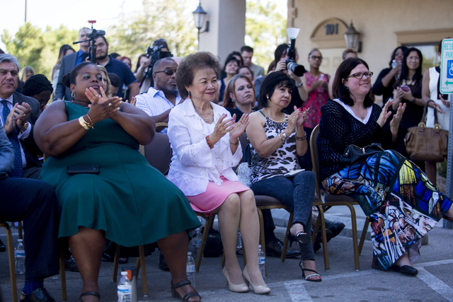 The board of FirstMed Health and Wellness Center sit in the front row during the commencement of the new center's location Tuesday, Aug. 16, 2016, in Las Vegas. Elizabeth Page Brumley/Las Vegas Re ...