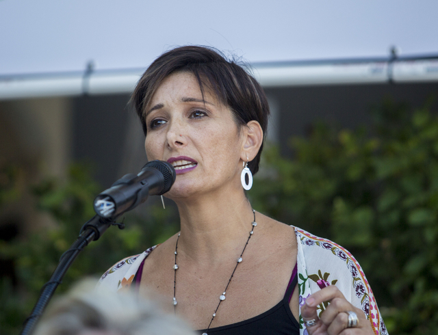Founder of the Embracing Project Esther Brown speaks  during the opening of the second FirstMed Health and Wellness Center location Tuesday, Aug. 16, 2016, in Las Vegas. Elizabeth Page Brumley/Las ...