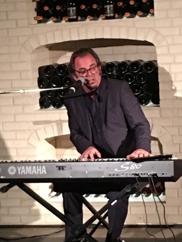 "Jonathan Cain, a member of Journey since 1982, performs a version of ""Faithfully"" on Friday night at Crush restaurant at MGM Grand. His appearance was in support of ARTTEC, a Las Vegas training pr ..."