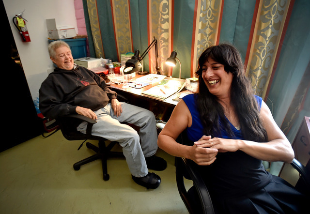 Volunteer Marty Brown Left And Founder Jamie Sprague Ballou Share A Laugh At