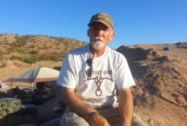 Gerald DeLemus of New Hampshire speaks of his experiences in Bunkerville, Nevada, in 2014. (Jason Patrick/YouTube)