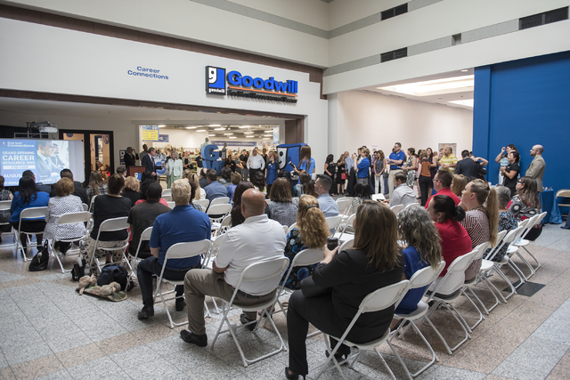 Attendees are seen at Goodwill of Southern Nevada's grand opening of its newest Career Connections center at the Boulevard Mall in Las Vegas on Thursday, Aug. 4, 2016. (Martin S. Fuentes/Las Vegas ...