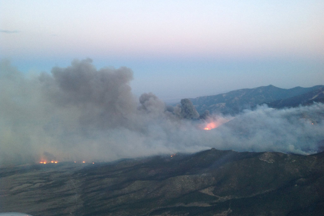 Strawberry Fire near Great Basin National Park. (Great Basin National Park/Facebook)
