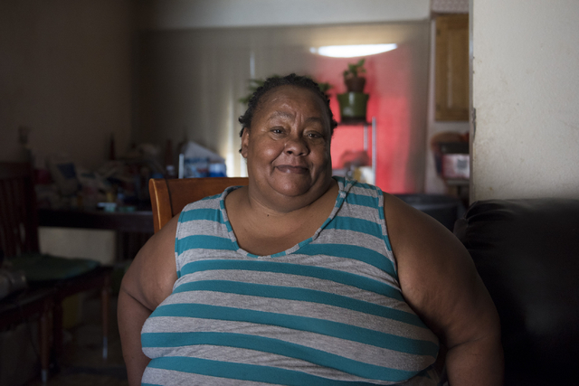 Janice Bullocks, at her Las Vegas home Sunday, July 31, 2016, struggles with pain and limited mobility due her car accident more than a year ago. Jason Ogulnik/Las Vegas Review-Journal