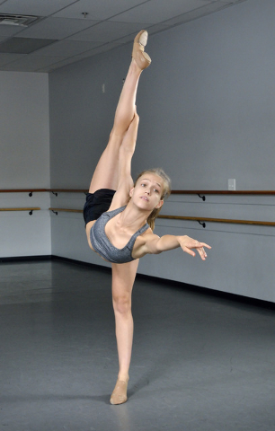 Henderson resident Paige Bremner, 18, is shown at Astudia Dance World, 270 E. Horizon Drive, July 28. She recently won Senior National Dancer of the Year at the Rainbow Dance Competition in Wiscon ...