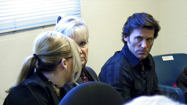 Mishele, Peggy and Anthony DiMaria were at Charles Watson's last parole hearing at Mule Creek State Prison in Ione, California, Nov. 16, 2011. (DiMaria family)