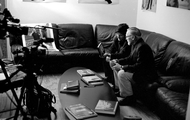 Dennis Hopper was interviewed at his Venice, California, home for a documentary on Jay Sebring, who was killed by followers of Charles Manson.
