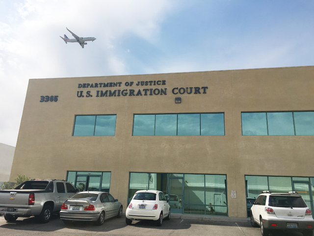 Out of about 55 immigration courts overseen by the Department of Justice's Executive Office of Immigration Review, Nevada's is referred to as Las Vegas court, named for its base city ...