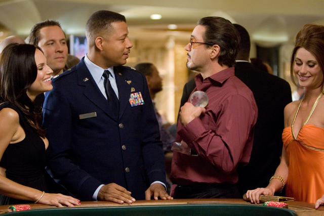 "Pals ""Rhodey"" Rhodes (Terrence Howard) and Tony Stark (Robert Downey Jr.) enjoy some casino action in 2008's ""Iron Man."" (Paramount Pictures)"