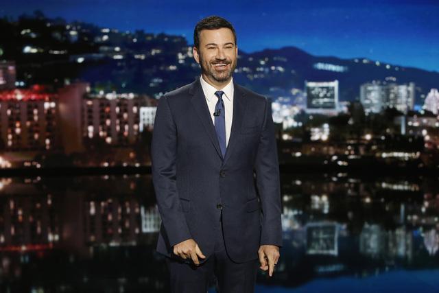 "Former Las Vegan Jimmy Kimmel is seen on the set of ""Jimmy Kimmel Live."" (ABC/Randy Holmes)"