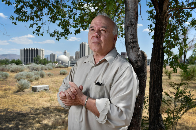 Joseph Galata stands in a historic cemetery that he is wanting to save from developers Tuesday, June 7, 2016, in Reno. (David Becker/Las Vegas Review-Journal) Follow @davidjaybecker