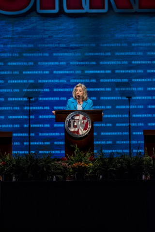Rep. Dina Titus, D-Nev. speaks during the Iron Workers International 43rd Convention at The Mirage hotel-casino in Las Vegas on Monday, Aug. 22, 2016. Joshua Dahl/Las Vegas Review-Journal