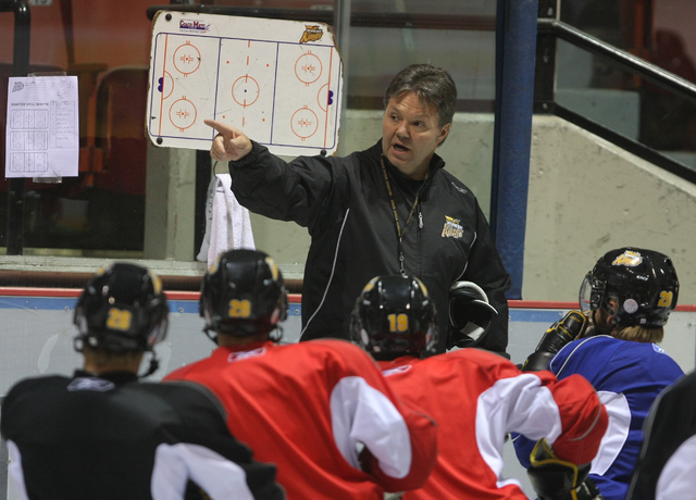 Brandon Sun Wheat Kings owner/general manager Kelly McCrimmon watches his team during practice at Westman Place last season. (Bruce Bumstead/Brandon Sun)