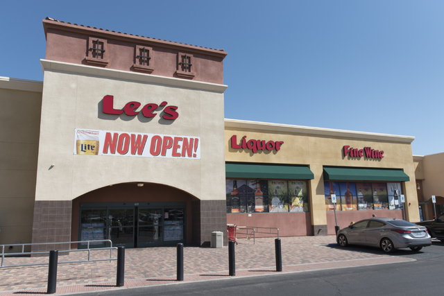 Lee's Discount Liquor at 1450 W. Horizon Ridge Parkway in Henderson is seen during its grand opening Saturday, Aug. 6, 2016. (Jason Ogulnik/Las Vegas Review-Journal)