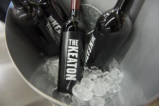 Bottles of Diane Keaton's wine are seen during the grand opening of Lee's Discount Liquor at 1450 W. Horizon Ridge Parkway in Henderson on Saturday, Aug. 6, 2016. (Jason Ogulnik/Las Vegas Review-J ...