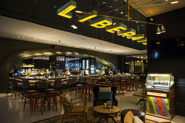 Part of the interior at Libertine Social is shown in the Mandalay Bay hotel-casino in Las Vegas on Thursday, Aug. 18, 2016. Chase Stevens/Las Vegas Review-Journal Follow @csstevensphoto