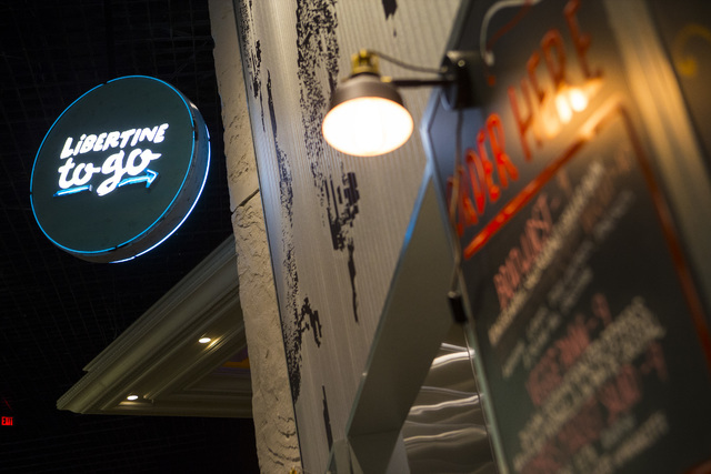 A take out window is shown at Libertine Social is shown in the Mandalay Bay hotel-casino in Las Vegas on Thursday, Aug. 18, 2016. Chase Stevens/Las Vegas Review-Journal Follow @csstevensphoto