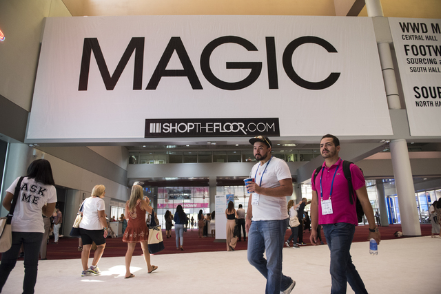 Attendees walk around in the MAGIC trade show inside the Las Vegas Convention Center on Monday, Aug. 15, 2016. Martin S. Fuentes/Las Vegas Review-Journal
