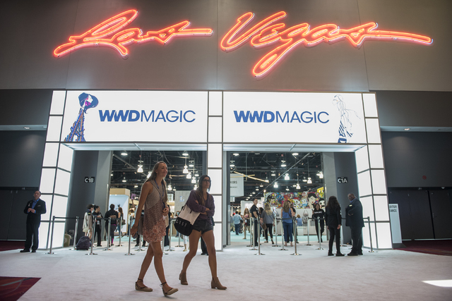 Attendees walk around in the MAGIC trade show inside the Las Vegas Convention Center on Monday, Aug. 15, 2016. (Martin S. Fuentes/Las Vegas Review-Journal)