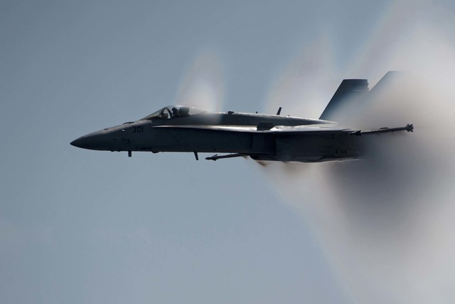 An F/A-18C Hornet similar to one that crashed in the Northern Nevada desert during a training mission near the Fallon Naval Air Station on Tuesday, Aug. 2, 2016. (U.S. Navy, Petty Officer 2nd Clas ...