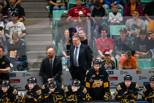 New Las Vegas NHL assistant general manager Kelly McCrimmon coaches during the 2016 Memorial Cup tournament. (Rob Wallator/CHL Images)