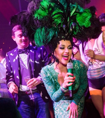 "Melody Sweets in ""Absinthe"" at Caesars Palace. (Erik Kabik)"