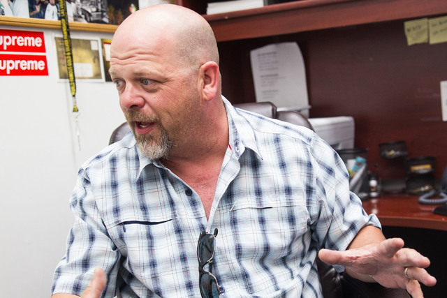 """Rick Harrison of the reality TV show """"Pawn Stars"""" is the owner of the Gold & Silver Pawn shop in downtown Las Vegas. (Chase Stevens/Las Vegas Review-Journal)"""