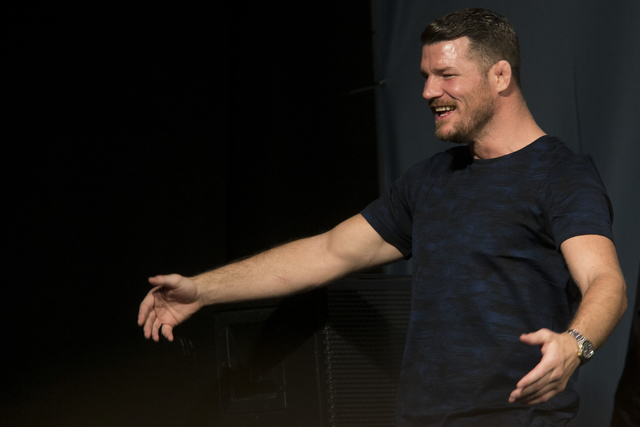 Michael Bisping interacts with fans during the UFC 204 press conference at the MGM Grand hotel-casino on Friday, Aug. 19, 2016, in Las Vegas. Erik Verduzco/Las Vegas Review-Journal Follow @Erik_Ve ...
